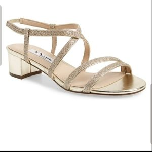 Nina Galean Blocked Heel Strappy Sandals